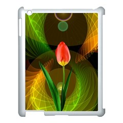 Tulip Flower Background Nebulous Apple Ipad 3/4 Case (white)
