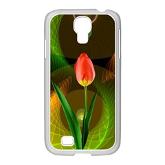 Tulip Flower Background Nebulous Samsung Galaxy S4 I9500/ I9505 Case (white)
