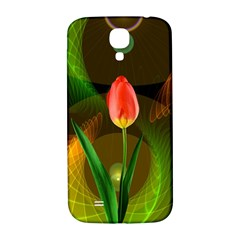 Tulip Flower Background Nebulous Samsung Galaxy S4 I9500/i9505  Hardshell Back Case