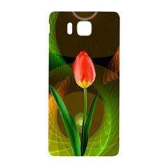 Tulip Flower Background Nebulous Samsung Galaxy Alpha Hardshell Back Case
