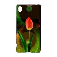 Tulip Flower Background Nebulous Sony Xperia Z3+