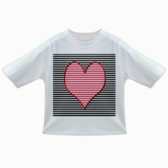 Heart Stripes Symbol Striped Infant/toddler T Shirts