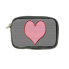 Heart Stripes Symbol Striped Coin Purse