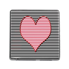 Heart Stripes Symbol Striped Memory Card Reader (square)