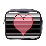 Heart Stripes Symbol Striped Mini Toiletries Bag 2-Side Front