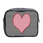 Heart Stripes Symbol Striped Mini Toiletries Bag 2-Side Back