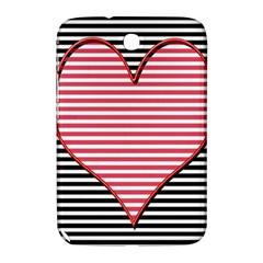 Heart Stripes Symbol Striped Samsung Galaxy Note 8 0 N5100 Hardshell Case