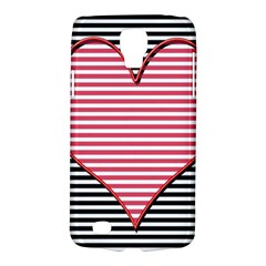 Heart Stripes Symbol Striped Galaxy S4 Active