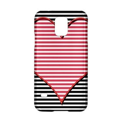Heart Stripes Symbol Striped Samsung Galaxy S5 Hardshell Case