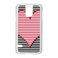Heart Stripes Symbol Striped Samsung Galaxy S5 Case (white)