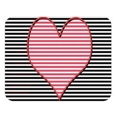 Heart Stripes Symbol Striped Double Sided Flano Blanket (large)