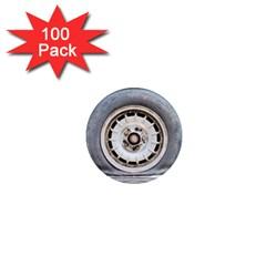 Flat Tire Vehicle Wear Street 1  Mini Magnets (100 Pack)