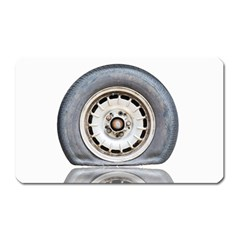 Flat Tire Vehicle Wear Street Magnet (rectangular)