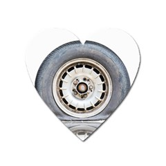 Flat Tire Vehicle Wear Street Heart Magnet