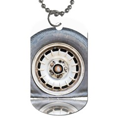 Flat Tire Vehicle Wear Street Dog Tag (one Side)