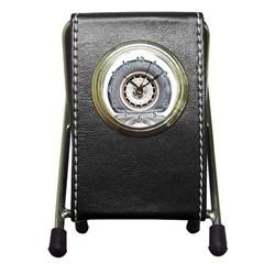 Flat Tire Vehicle Wear Street Pen Holder Desk Clocks