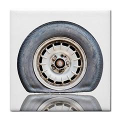 Flat Tire Vehicle Wear Street Face Towel
