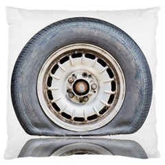 Flat Tire Vehicle Wear Street Large Cushion Case (two Sides)