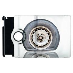 Flat Tire Vehicle Wear Street Apple Ipad 3/4 Flip 360 Case