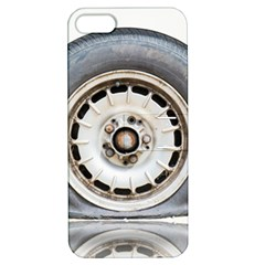 Flat Tire Vehicle Wear Street Apple Iphone 5 Hardshell Case With Stand