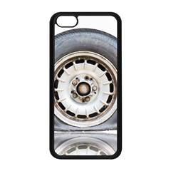 Flat Tire Vehicle Wear Street Apple Iphone 5c Seamless Case (black)