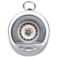 Flat Tire Vehicle Wear Street Silver Compasses