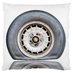 Flat Tire Vehicle Wear Street Large Flano Cushion Case (two Sides)