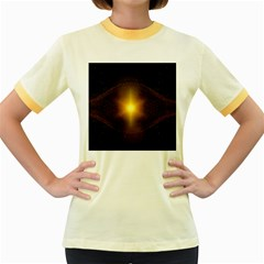 Background Christmas Star Advent Women s Fitted Ringer T Shirts