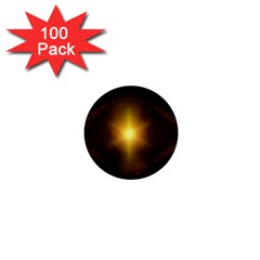 Background Christmas Star Advent 1  Mini Buttons (100 Pack)
