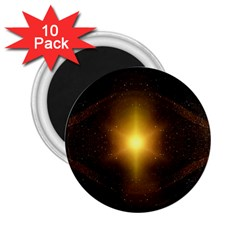 Background Christmas Star Advent 2 25  Magnets (10 Pack)