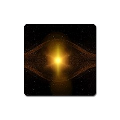 Background Christmas Star Advent Square Magnet