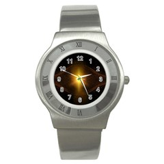 Background Christmas Star Advent Stainless Steel Watch