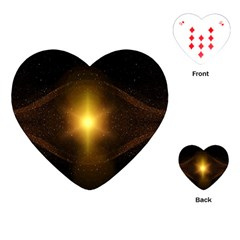 Background Christmas Star Advent Playing Cards (heart)