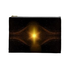 Background Christmas Star Advent Cosmetic Bag (large)