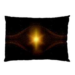 Background Christmas Star Advent Pillow Case (two Sides)