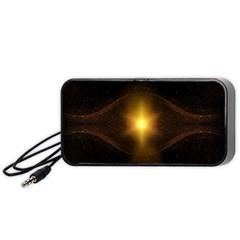 Background Christmas Star Advent Portable Speaker (black)