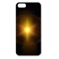 Background Christmas Star Advent Apple Seamless Iphone 5 Case (clear)
