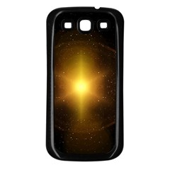 Background Christmas Star Advent Samsung Galaxy S3 Back Case (black)