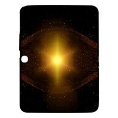 Background Christmas Star Advent Samsung Galaxy Tab 3 (10 1 ) P5200 Hardshell Case