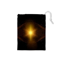 Background Christmas Star Advent Drawstring Pouches (small)