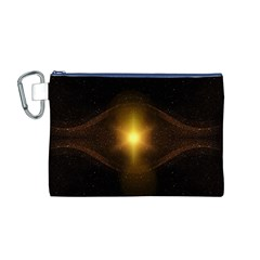Background Christmas Star Advent Canvas Cosmetic Bag (m)
