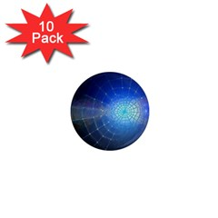 Network Cobweb Networking Bill 1  Mini Magnet (10 Pack)