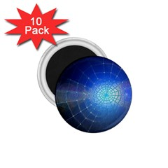 Network Cobweb Networking Bill 1 75  Magnets (10 Pack)