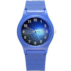 Network Cobweb Networking Bill Round Plastic Sport Watch (s)