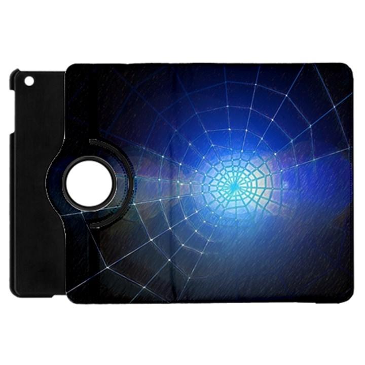 Network Cobweb Networking Bill Apple iPad Mini Flip 360 Case