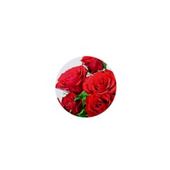 A Bouquet Of Roses On A White Background 1  Mini Buttons