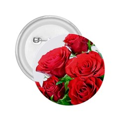 A Bouquet Of Roses On A White Background 2 25  Buttons