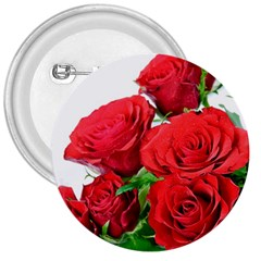 A Bouquet Of Roses On A White Background 3  Buttons