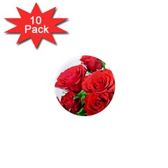 A Bouquet Of Roses On A White Background 1  Mini Magnet (10 Pack)