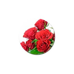 A Bouquet Of Roses On A White Background Golf Ball Marker (4 Pack)